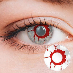 Bloody White Yearly Cosplay Contact Lenses
