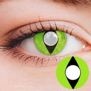 Cat Eye Light Green Yearly Cosplay Contact Lenses
