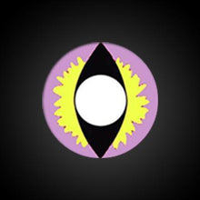 Load image into Gallery viewer, Dragon Eye Pink-Yellow Yearly Cosplay Contact Lenses