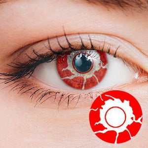 Bloody Red Yearly Cosplay Contact Lenses