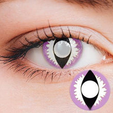 Load image into Gallery viewer, Dragon Eye Purple-White Yearly Cosplay Contact Lenses