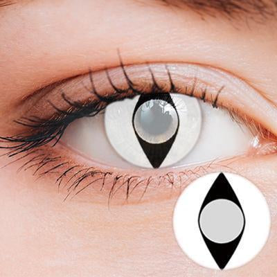Cat Eye White Yearly Cosplay Contact Lenses