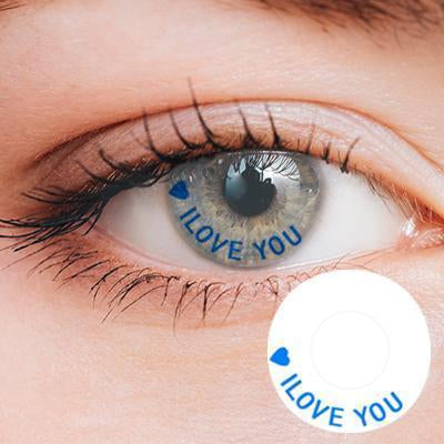 I Love You Yearly Cosplay Contact Lenses