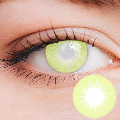 Solar Yellow Yearly Cosplay Contact Lenses