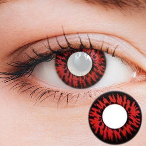 Flutter Red Yearly Cosplay Contact Lenses