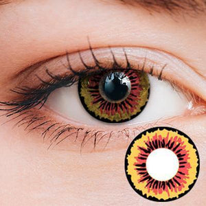 Flower Yellow Yearly Cosplay Contact Lenses