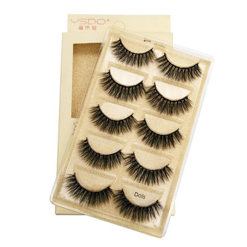 3D Natural Long False Eyelashes Set