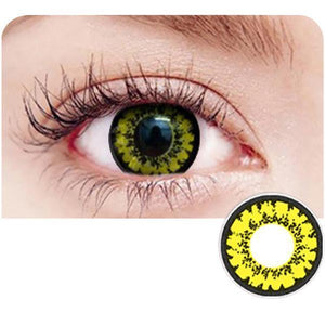 Volturi Crazy Yellow Yearly Cosplay Contact Lenses