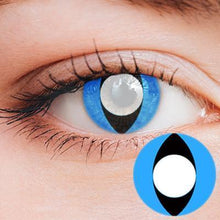 Load image into Gallery viewer, Cat Eye Blue Yearly Cosplay Contact Lenses