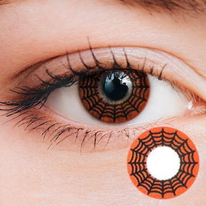 Spider Web Red Yearly Cosplay Contact Lenses