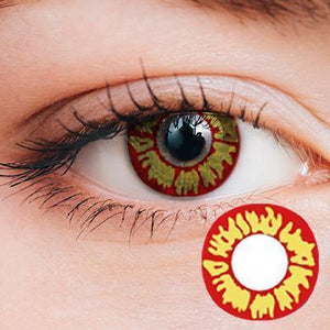 Demon Red Yearly Cosplay Contact Lenses