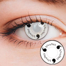 Load image into Gallery viewer, Uchiha Sharingan White Yearly Cosplay Contact Lenses