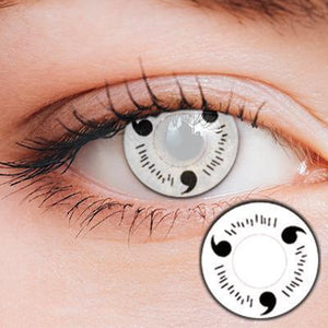 Uchiha Sharingan White Yearly Cosplay Contact Lenses