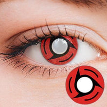 Load image into Gallery viewer, Itachi Mangekyo Sharingan Yearly Cosplay Contact Lenses