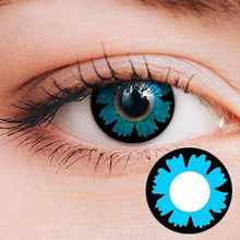 Load image into Gallery viewer, Petal Blue Yearly Cosplay Contact Lenses