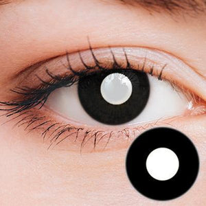 Intense Black Yearly Cosplay Contact Lenses