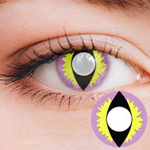 Dragon Eye Pink-Yellow Yearly Cosplay Contact Lenses