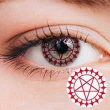 Load image into Gallery viewer, Ciel's eye Sharingan Red Yearly Cosplay Contact Lenses