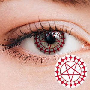 Ciel's eye Sharingan Red Yearly Cosplay Contact Lenses