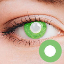 Load image into Gallery viewer, Intense Green Yearly Cosplay Contact Lenses