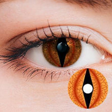 Load image into Gallery viewer, Animal Eye Orange Yearly Cosplay Contact Lenses