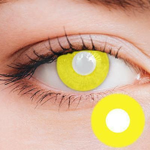 Intense Yellow Yearly Cosplay Contact Lenses