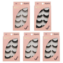 Load image into Gallery viewer, 3D Natural Long False Eyelashes 4 Pairs Set