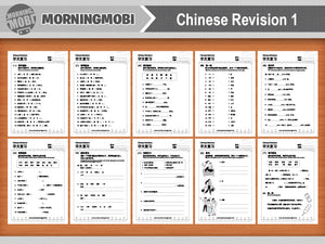 Chinese revision practice exercise worksheets Primary 1 level pdf