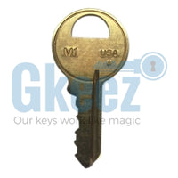 Master Padlock Replacement Key Series K1201 - K1250