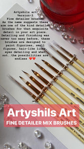 **VERSION 3** Fine detailers mix brushes for painting by Artyshils Art