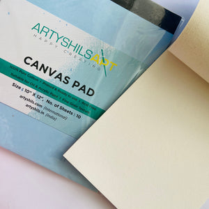 "10/12"" - 1 Medium size canvas pad"