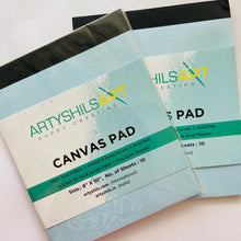 "Load image into Gallery viewer, 8/10"" - 1 Small Size canvas pad / Canvas Cloth Sketchbook"