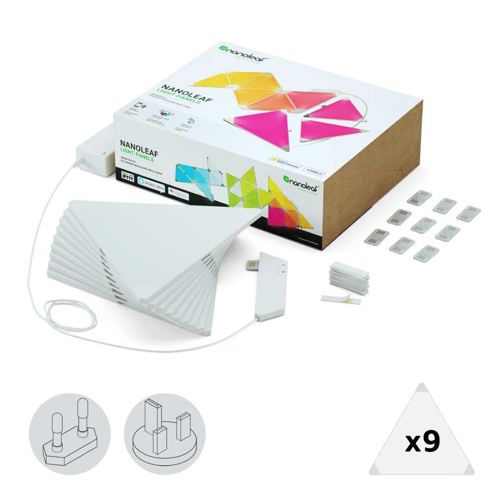 Nanoleaf Kit completo 9 painéis