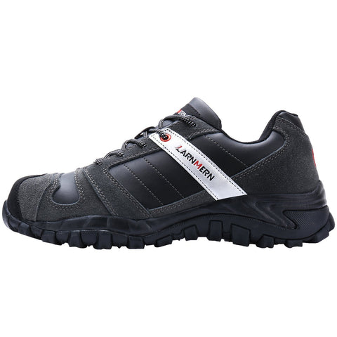 Larnmern Mens Work Shoes Black