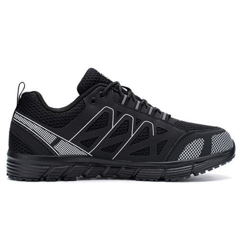 Larnmern Mens Steel Toe Shoes Black