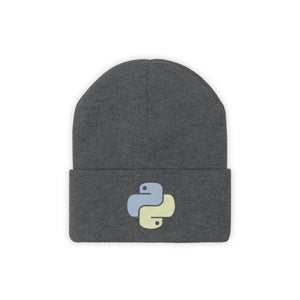 Python Embroidered Knit Beanie