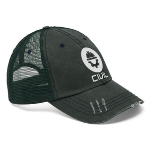 Civil Embroidered Trucker Hat - Engg Merch