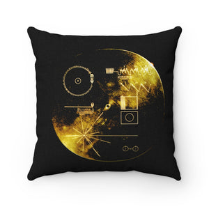 Voyager Golden Record Square Pillow - Engg Merch