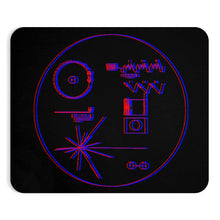 Load image into Gallery viewer, Red and Blue Voyager Record Mousepad - Engg Merch