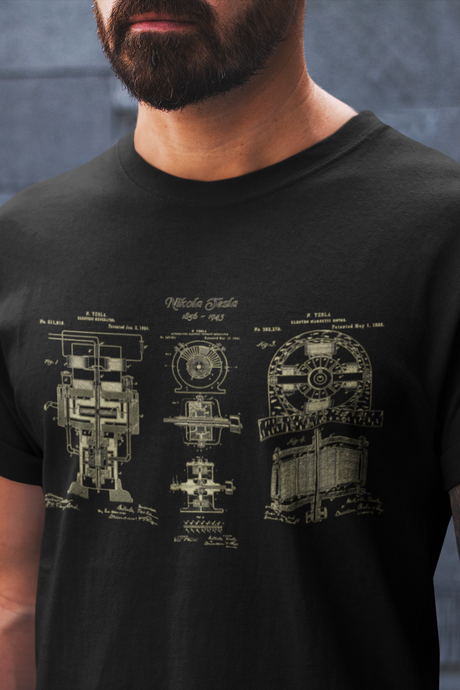 Nikola Tesla Electric Motor T-Shirt