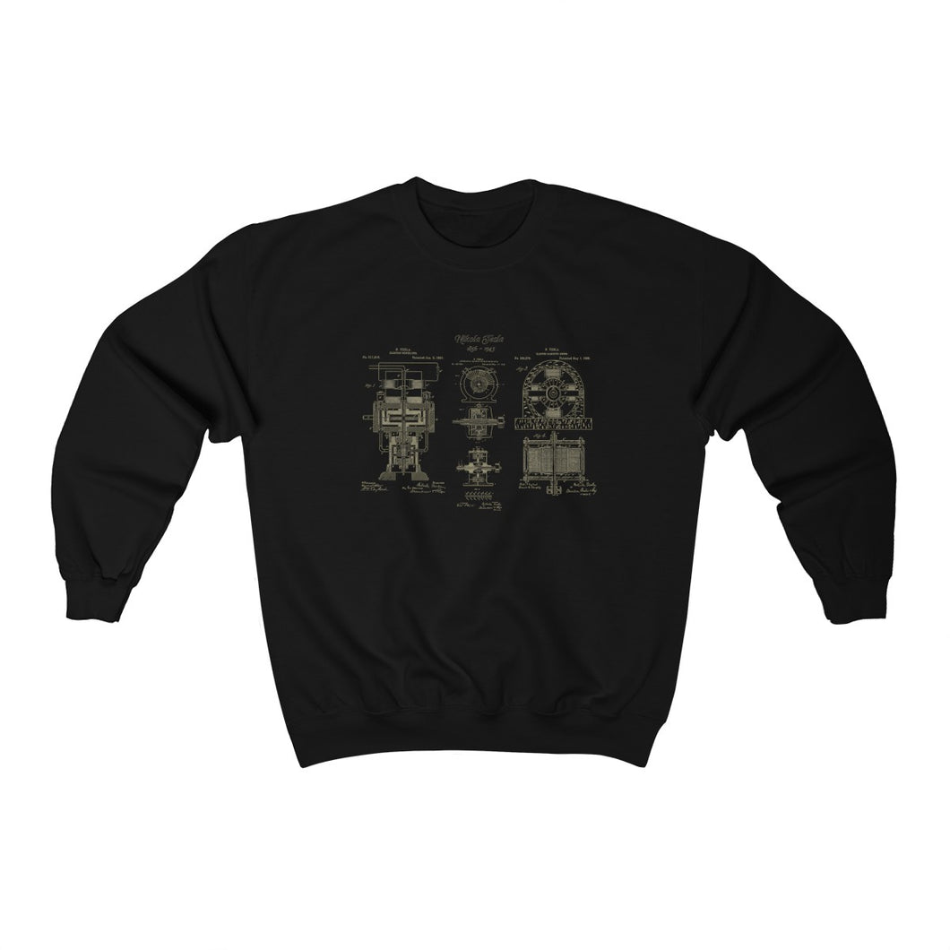 Nikola Tesla Electric Motor Sweatshirt - Engg Merch