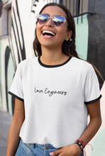 Load image into Gallery viewer, Love Engineers Ringer Tee - Engg Merch