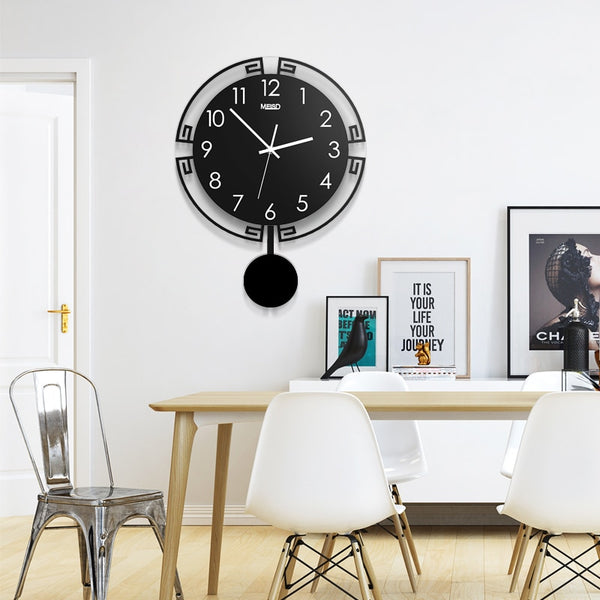 Vintage 3D Digital Swing Wall Clock Modern Design Acrylic Pendulum Creative Watch Living Room Home Decoration Hanging Clocks