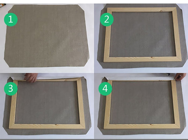 DIY Solid Frames For Canvas Picture
