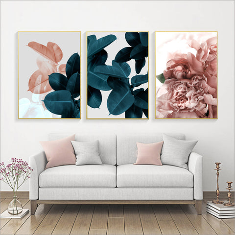Wall Pictures For Living Room Leaf Cuadros Picture Nordic Poster Floral Wall Art Canvas Painting Botanical Posters And Prints