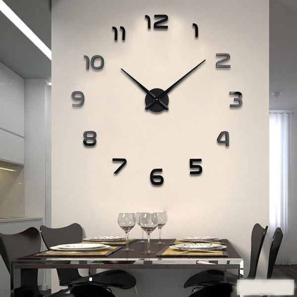 3D DIY Wall Clock Modern Style 2019 New Saat Reloj De Pared Metal Art Clock Living Room Acrylic Mirror Watch Horloge Murale - The Perfect Home Accesories