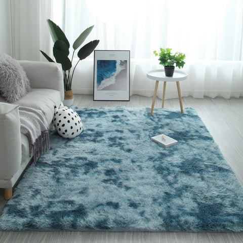 Gradient Solid Thick Rugs