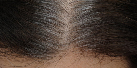 Woman with Gray Hairs