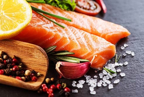 salmon for hair health and shien