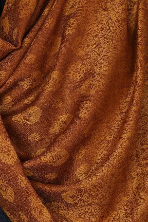 Pashtush Shawl Store Stole Mens Stole Scarf, Extra Soft Wool - Rusty Amber
